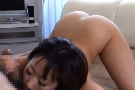 Japanese av model. Japanese AV Model with considerable jugs has hairy vagina fingered and moans