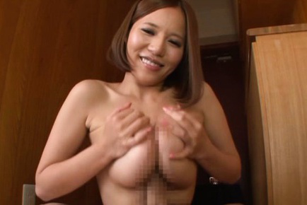 Ruri saijo. Ruri Saijo Asian rubs penish with and between her huge knockers