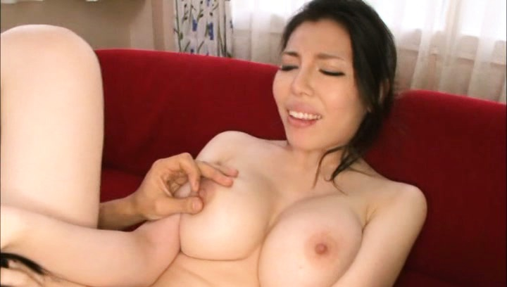 Japanese av model. Japanese AV Model has nipples licked while is fingered in cooter