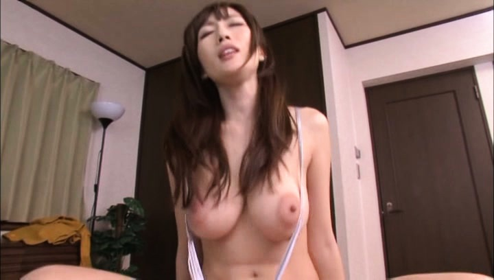 Julia. JULIA Asian chick with huge cans rides boner like a horny