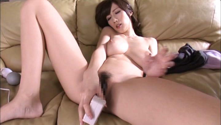 Julia. JULIA Asian with considerable tits licks dildo and fucks pussy with it