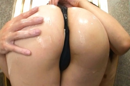 Michiru. Michiru Asian with huge cans and oiled voluminous bum gives fine cock sucking