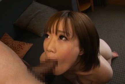 Michiru. Michiru Asian has large cans shaking while is fingered