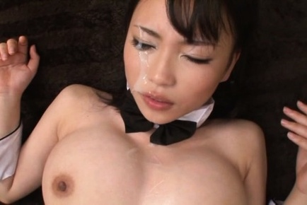 Akane yoshinaga. Akane Yoshinaga gets ejaculate on face from rubbing